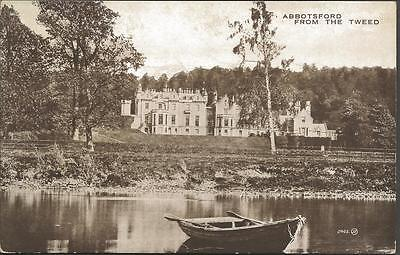Vintage Postcard ABBOTSFORD from the Tweed Scotland Valentine's Carbotone Series