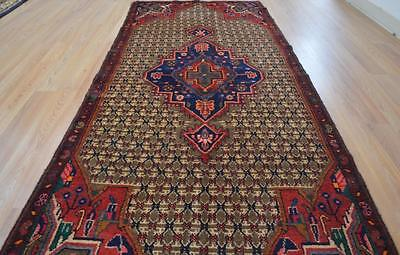 3'3x8 Fine Genuine S Antique Persian Koliayi Tribal Hand Knotted Runner Wool Rug