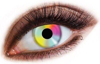 Mens Ladies Rainbow Pride Hippie Halloween Carnival Fancy Dress Costume Eye - Hippie Makeup Halloween