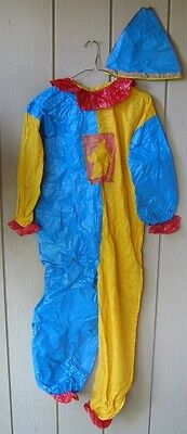 Vintage 1950's Halloween Collegeville Masquerade Child's Clown Costume with Box
