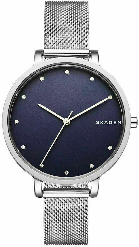 SKAGEN Damen Armbanduhr Uhr silber blau SKW2582 Neu