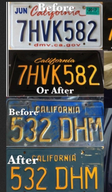 DIY CALIFORNIA Legacy License Plates VINTAGE AMERICAN CAR