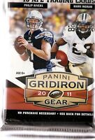 2011 Panini Gridiron Gear Football Retail 6 Pack Lot