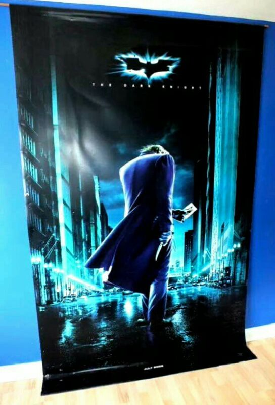 Heath Ledger The Joker Batman The Dark Knight Vinyl Cinema Banner 8X5ft RARE TDK