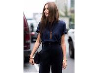 Ladies Basic Fashion Short Sleeve Navy Blue Tee T-Shirt. Size 20.