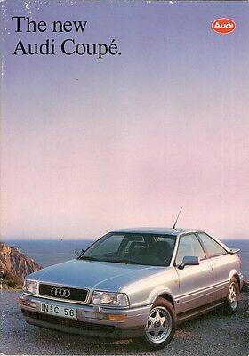 Audi Coupe 1991-92 UK Market Sales Brochure 2.0E 2.3E 2.8E Quattro