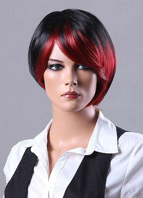 Ladies Short Wig Blonde Black Brown Wig Bob Curly Boycut Wedge Fashion Wigs