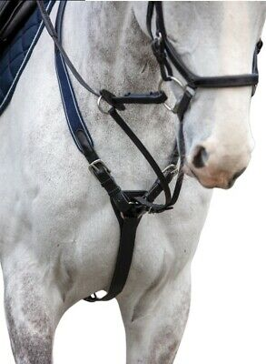 Rambo Micklem 3-Point Elastic Breastplate with Running Martingale Attachment