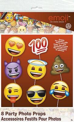 EMOJI PHOTO PROP SET (8pc) ~ Birthday Party Supplies Decorations Activity - Emoji Photos
