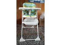 High chair foldable