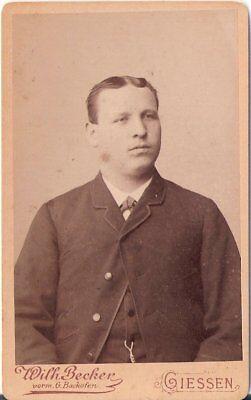 CDV Foto Herrenportrait - Giessen um 1890
