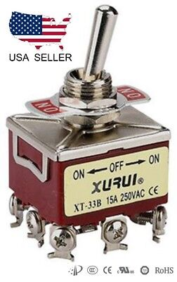 Heavy Duty 3pdt On-off-on Toggle Switch 20a 125v 15a 250v Screw Terminals 33b