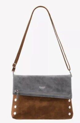 Hammitt Vip Large Crossbody Handbag Slate Tejus Arches Buffed Brushed Silver NWT