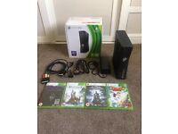 Xbox 360 console plus 4 games