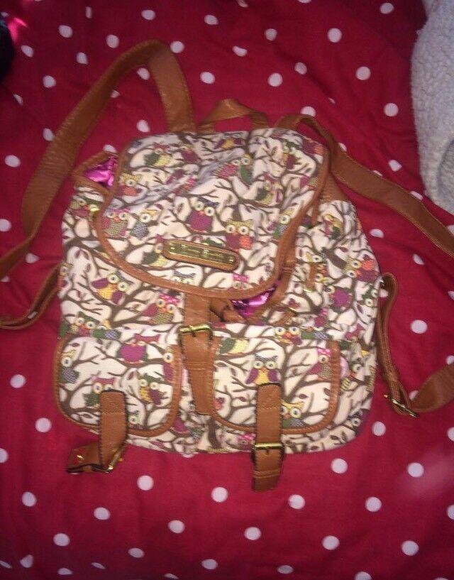Owl themed backpack