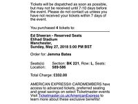 4 x ed sheeran tickets for Manchester Sunday 27th may 2017