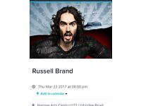 2 x tickets to Russell Brand LIVE show