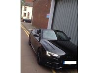 Audi A5 S-Line Convertible 2.0 TDI Black IMMACULATE - Perfect Condition + QUICK SALE! £