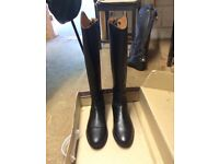 Brogini long leather riding boots