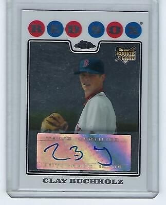 2008 Topps Chrome Autograph Clay Buchholz Rookie Card #229 Boston Red -