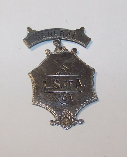 c1900 ANTIQUE LS OF A LONGSHOREMEN OF AMERICA CONVENTION BADGE MEDAL