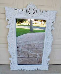 Large White Ornate French Provincial Mirror Rothwell Redcliffe Area Preview