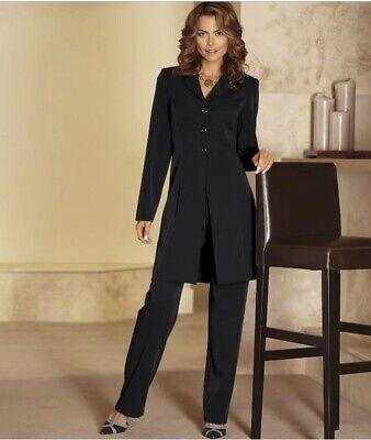 Monroe & Main Monika Duster Pant Suit Black Brown Olive Burgundy 6 12 16 16W 18W