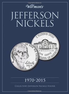 New WARMAN'S Album Jefferson Nickels: 1970 to 2015 Collector's Coin Folder Book