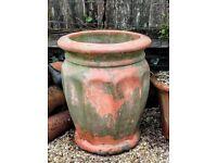 Large vintage terracotta garden planter/urn