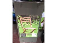 Windsor Wooden Folding Garden Bistro chair ( 3 available can buy single or all)