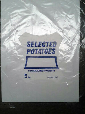 500 x Clear 5 KG Potato Bags 14x19