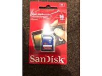 16gb memory card brand new sandisk