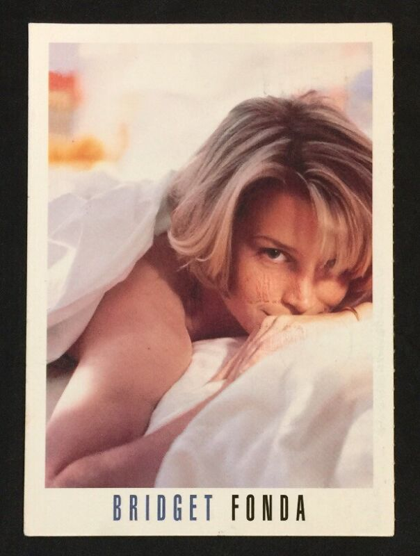 1993 BRIDGET FONDA American actress Smash Hits postcard Singapore Used!
