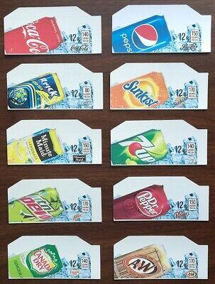 10 Soda Vending Machine 12oz Can Vend Labels Flavor Strip -variety Pack