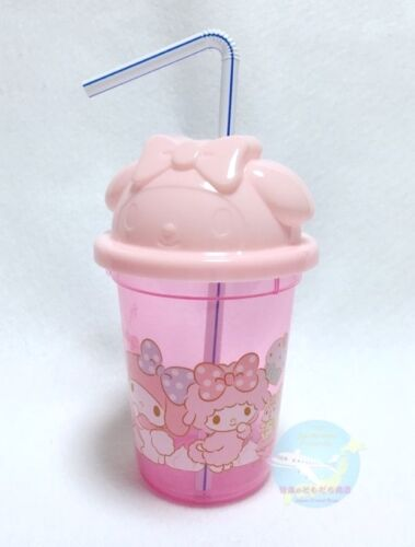Recommended! SANRIO My Melody KAWAII BENTO Plastic Straw Cup with Lid Resin