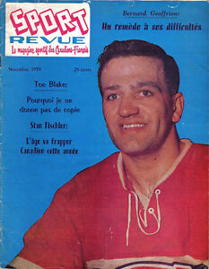 1959-Nov-Sport-Revue-Hockey-magazine-Bernard-Geoffrion-Montreal-Canadiens-ML-FR