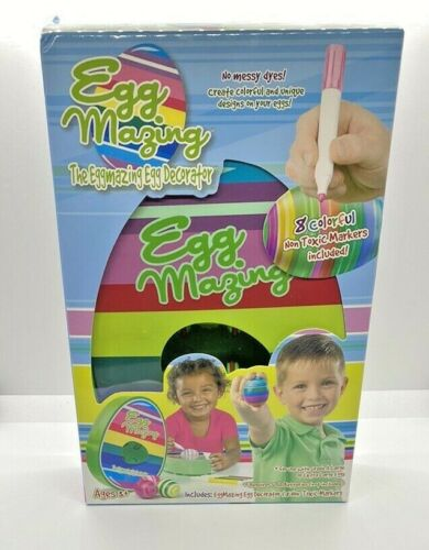 Easter Egg Decorator DIY Kit Includes 8 Colorful Quick Drying Non Toxic Markers