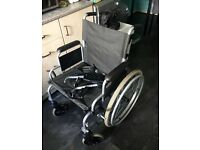 Wheelchair folds down open to offers.