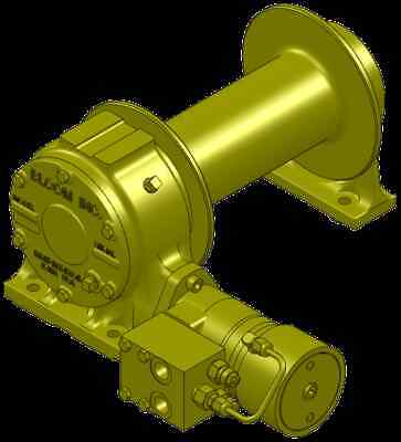 Bloom Mfg 12000 Lbs Hydraulic Winch With Duet-safe Braking Free Shipping