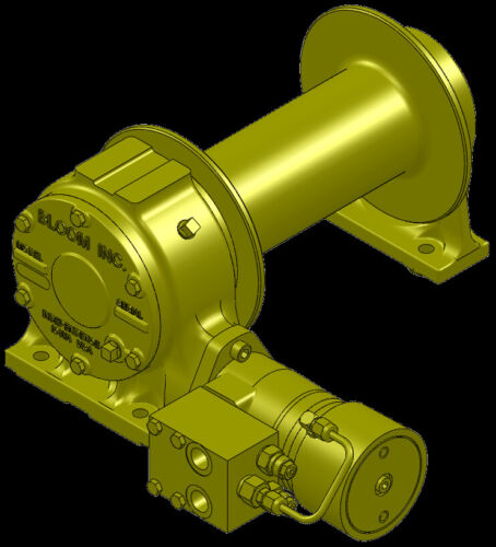 Bloom Mfg 12,000 lbs Hydraulic Winch with Duet-Safe Braking  ***FREE SHIPPING***