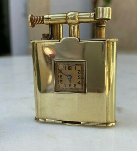 """1920's Dunhill """"Unique"""" WATCH Lighter in solid 14 K Gold. Rare"""