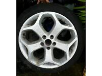 Genuine Ford focus ST alloy with continental tyre