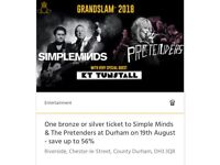 2x Simple Minds tickets