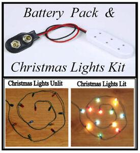 Dolls House miniatures Battery Pack Socket & Christmas Lights Kit BN LGW sockets