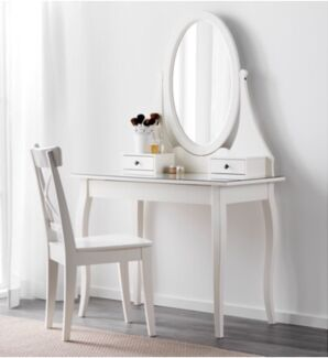 IKEA Dressing table with mirror, white,