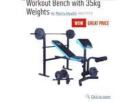 Brand new weights bench