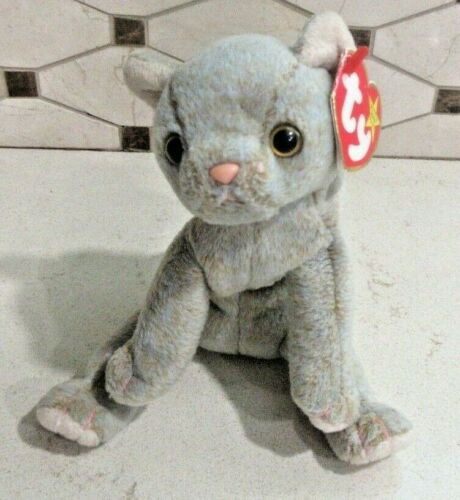 Ty Beanie Baby Scat the Cat DOB May 27, 1998 MWT