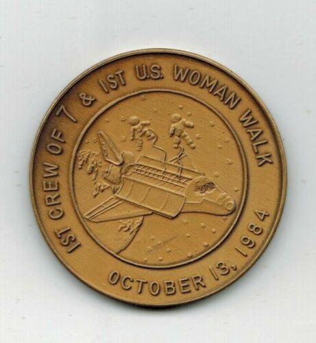 1st US Women Walk Space NASA Challenger Oct 5 1984 Token Medal