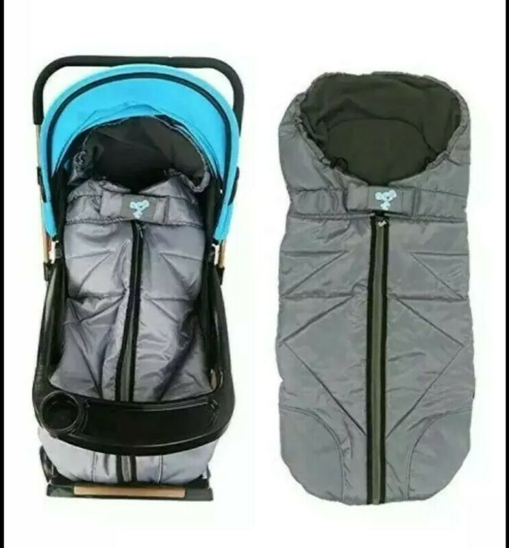 Lemonda Winter Outdoor Tour Waterproof Baby Infant Stroller Sleeping Bag (Grey)