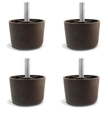 """1 1/2"""" Universal Brown Plastic Furniture Legs Sofa/Couch/Chair 5/16"""" - Set of 4"""